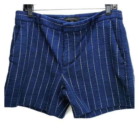 8d561be52e Banana Republic Shorts | Navy Blue Striped | Poshmark